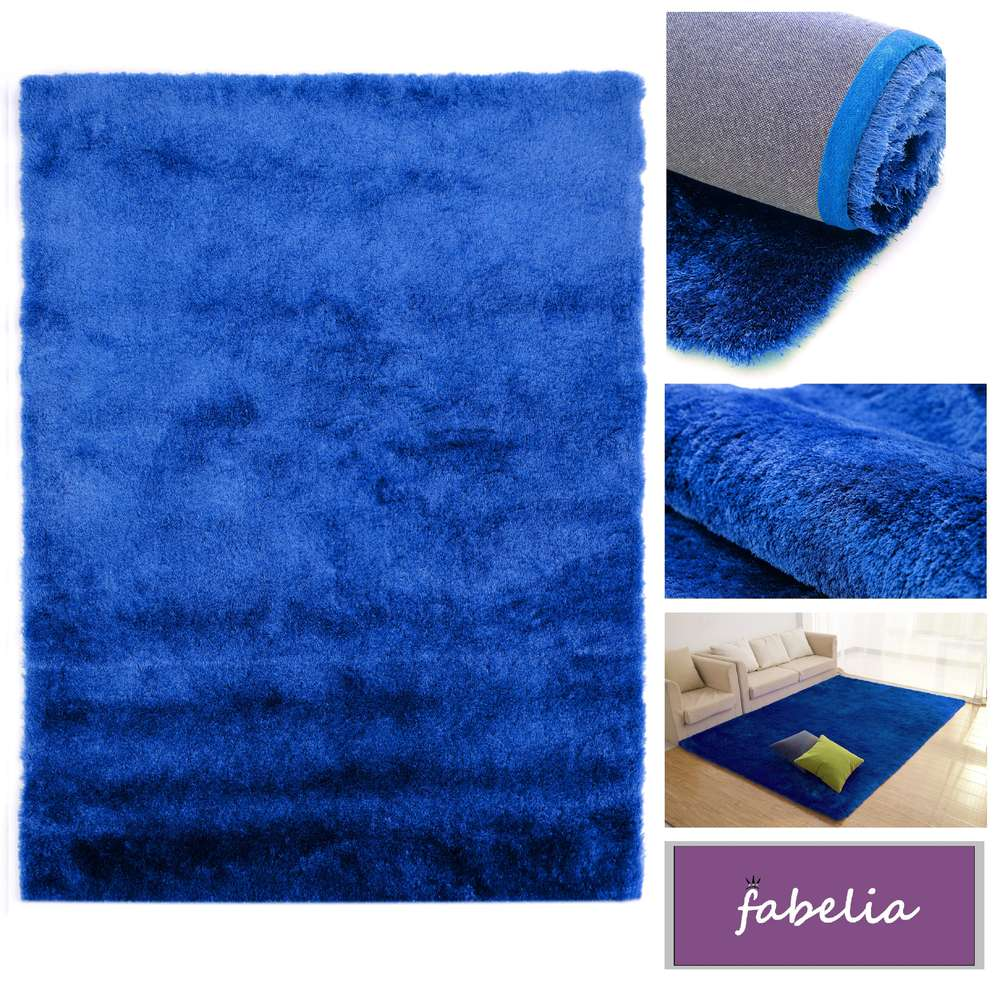 Hochflor Shaggy Teppich Gentle Luxus Blau Ultramarin Good Ideas