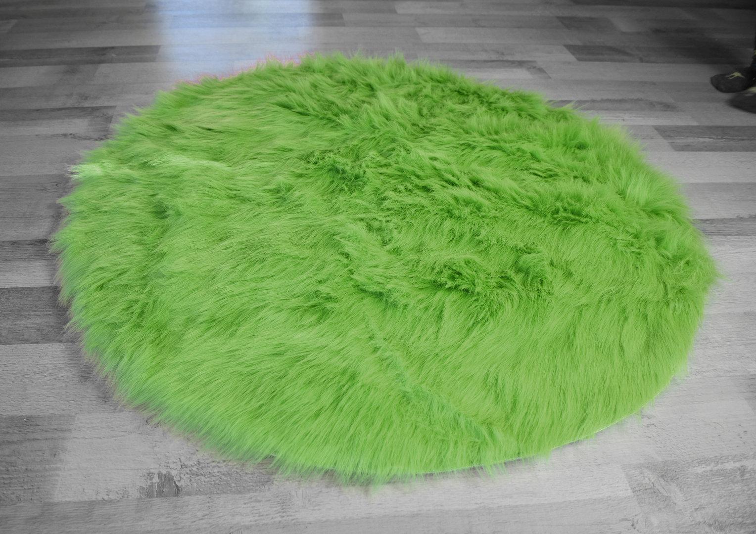 Flokati stil hochflor shaggy teppich ameiny colours rund