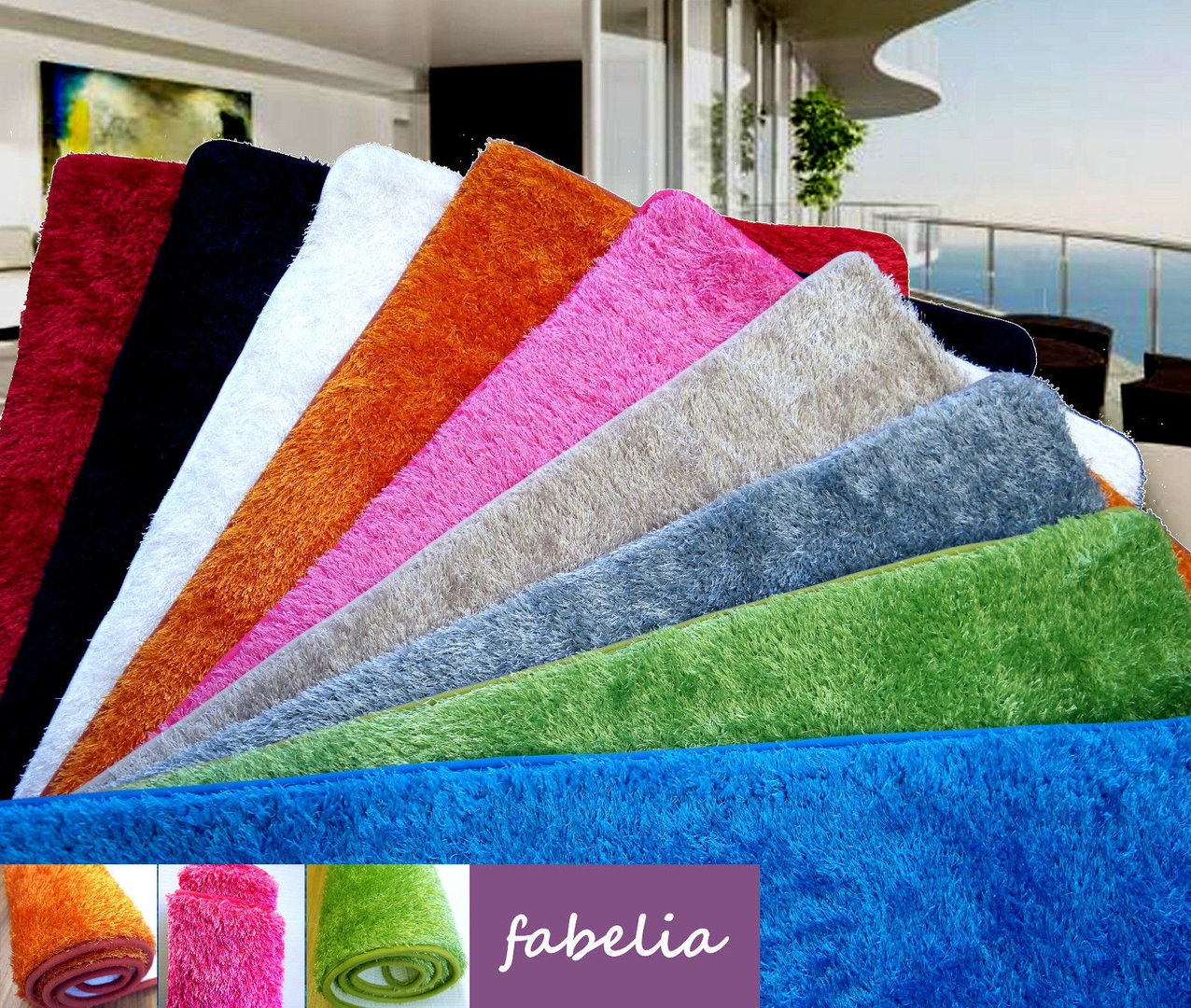 Hochflor Shaggy Teppich Flairy