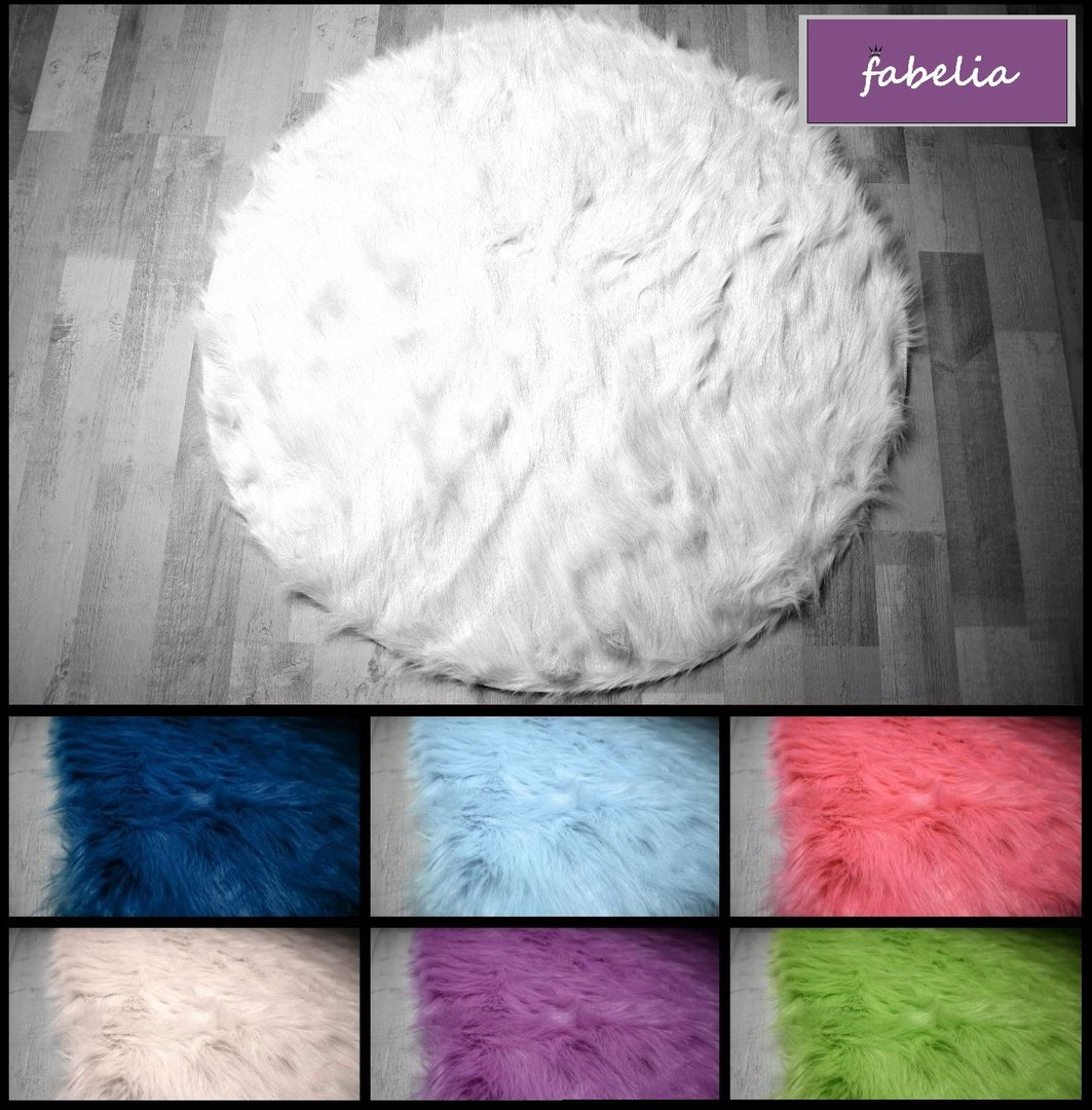 Fabelia - Flokati-Stil Hochflor Shaggy Teppich Ameiny Colours Rund