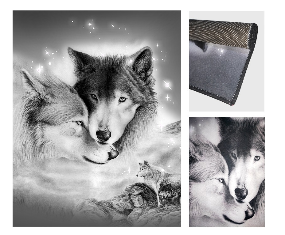 Fabelia - Modern Design Teppich Wolf Dream
