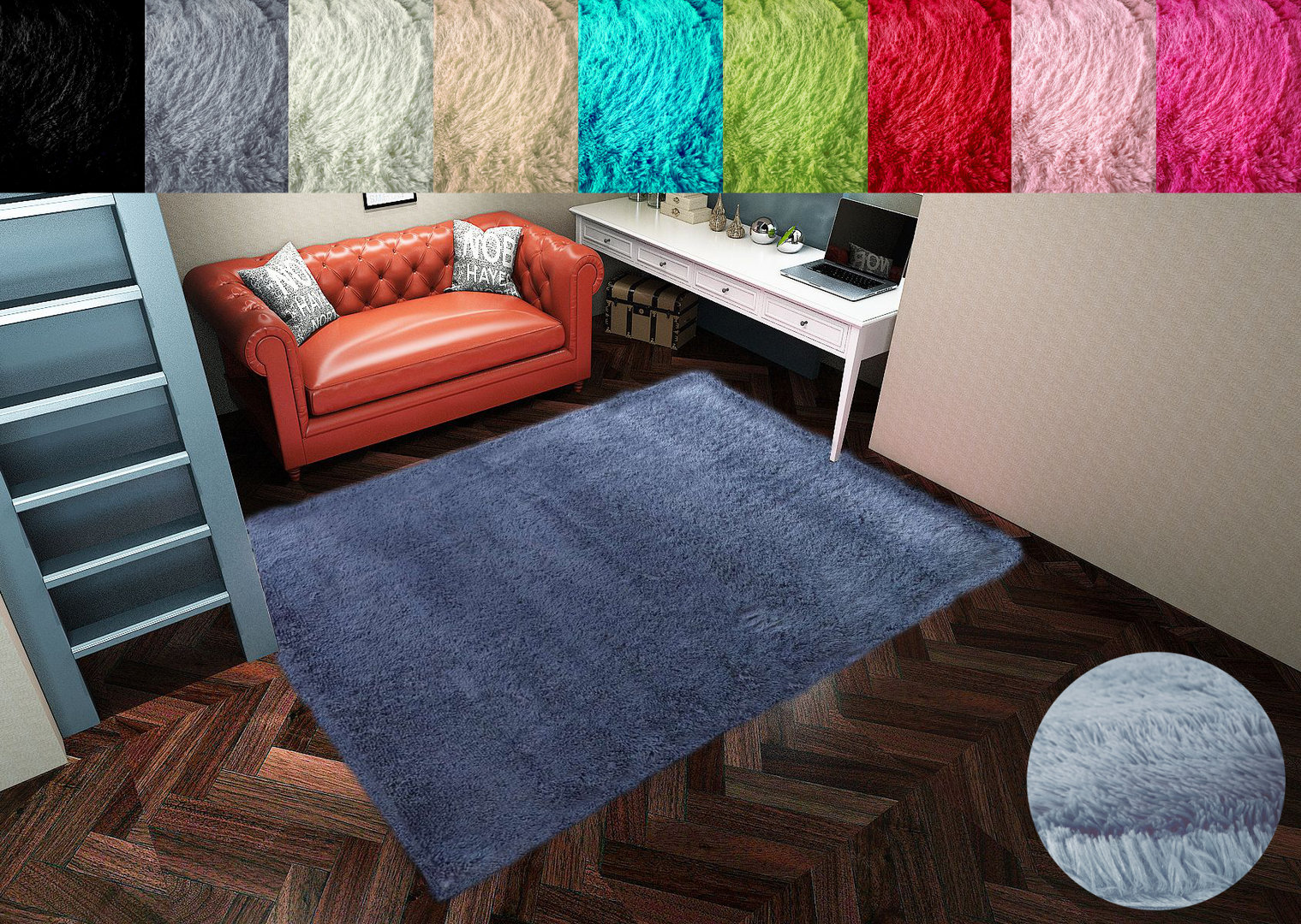 Hochflor Shaggy Teppich Whirly